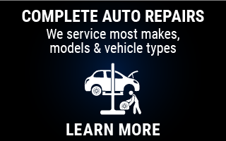 Complete Auto Repairs: We service most makes, models and vehicle types: Learn More